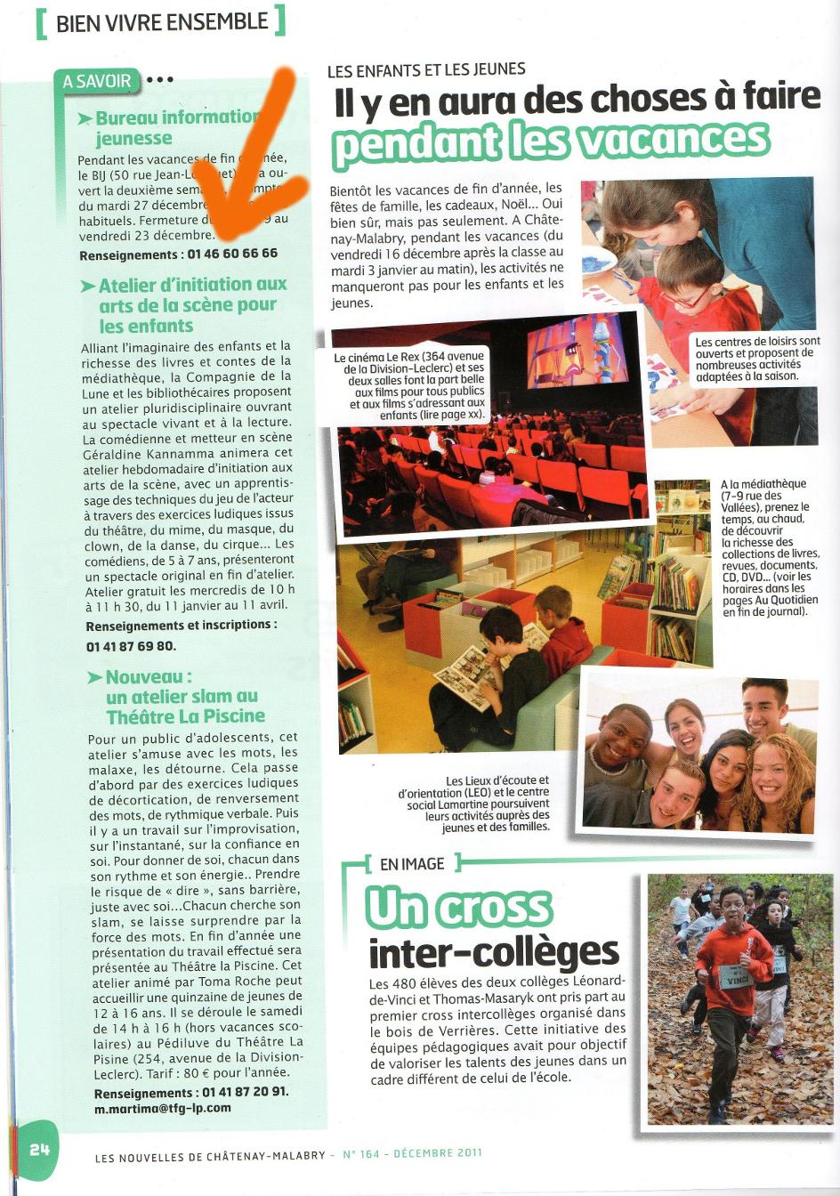 Nouvelles de Châtenay - Décembre 2011