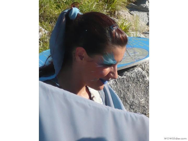 Femme bleue