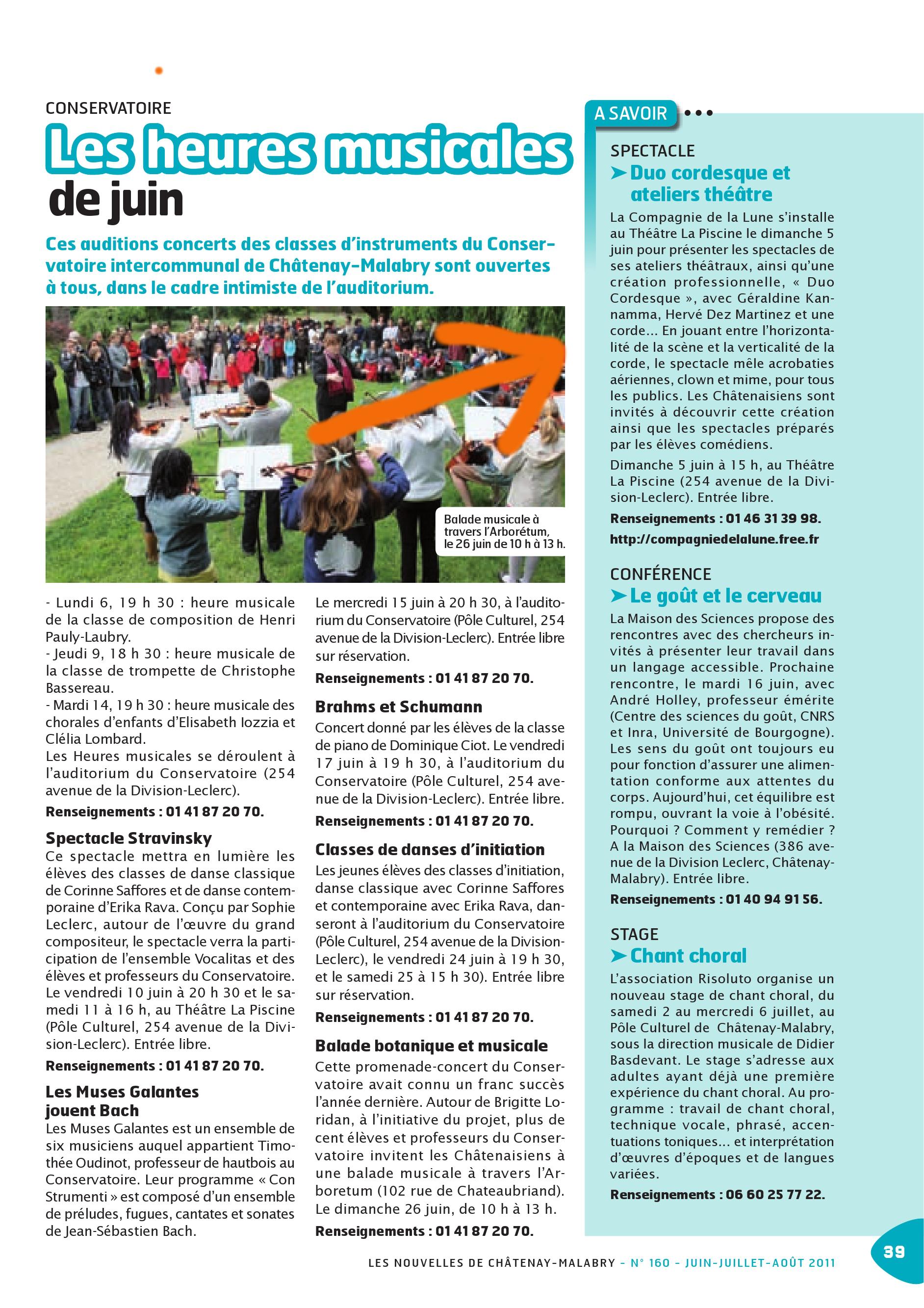 Article DUO 5 Juin 2011